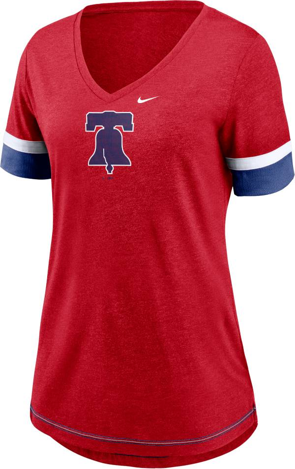Nike Women's Philadelphia Phillies Red Mesh Logo V-Neck T-Shirt product image