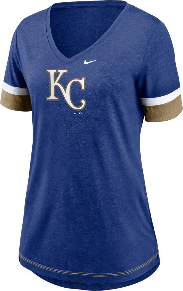 Nike Women's Kansas City Royals Blue Mesh Logo V-Neck T-Shirt product image
