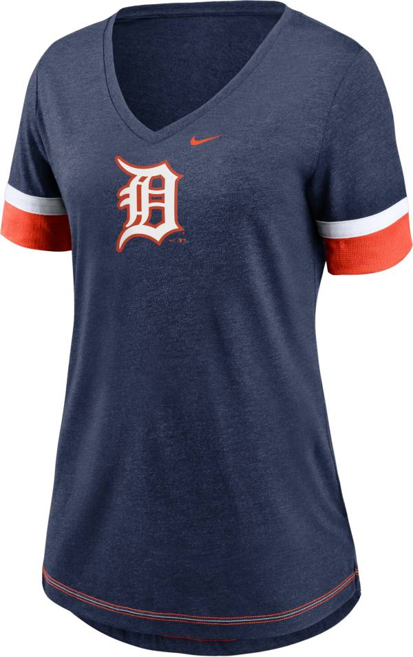 Nike Women's Detroit Tigers Navy Mesh Logo V-Neck T-Shirt product image