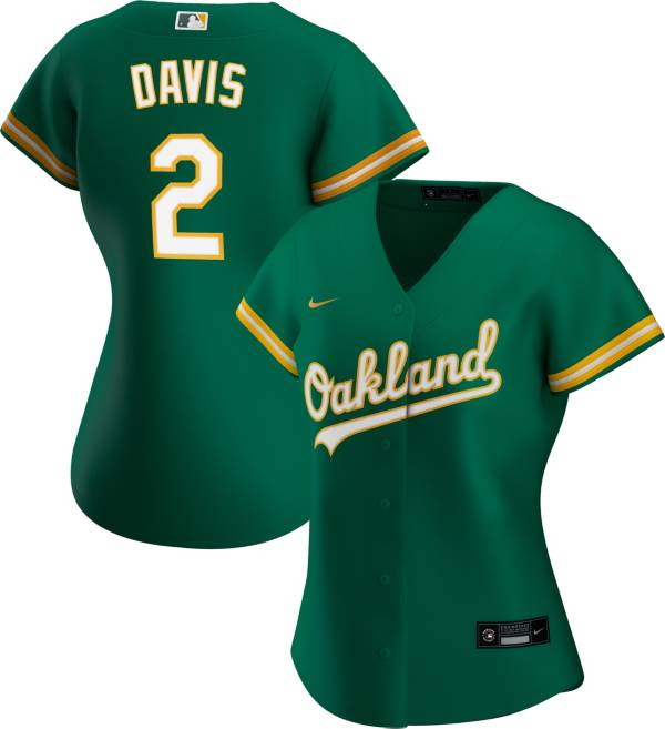 Nike Women's Replica Oakland Athletics Khris Davis #2 Cool Base Green Jersey product image