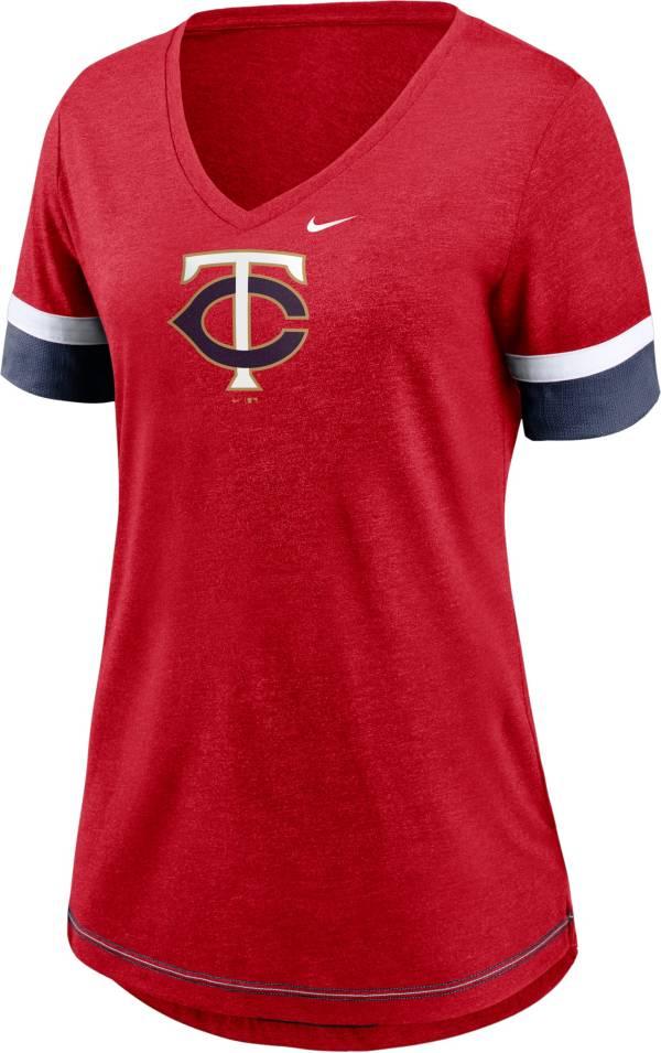 Nike Women's Minnesota Twins Red Mesh Logo V-Neck T-Shirt product image
