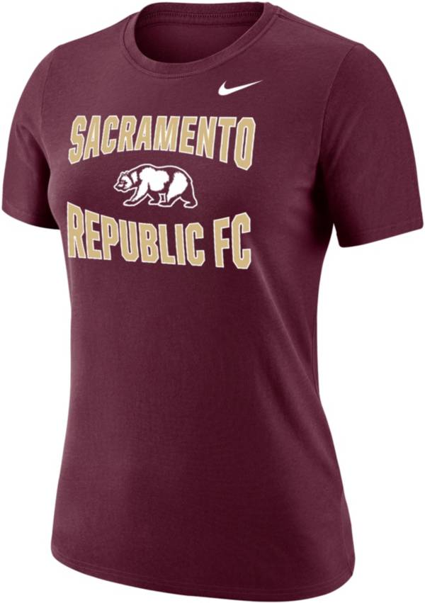 Nike Women's Sacramento FC Team Scoop Maroon T-Shirt product image