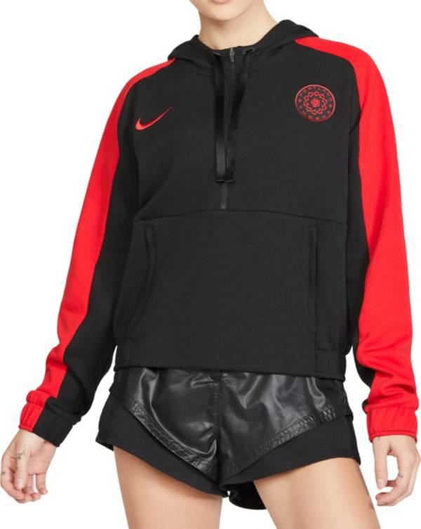 Nike Women's Portland Thorns FC Cropped Half-Zip Soccer Hoodie product image