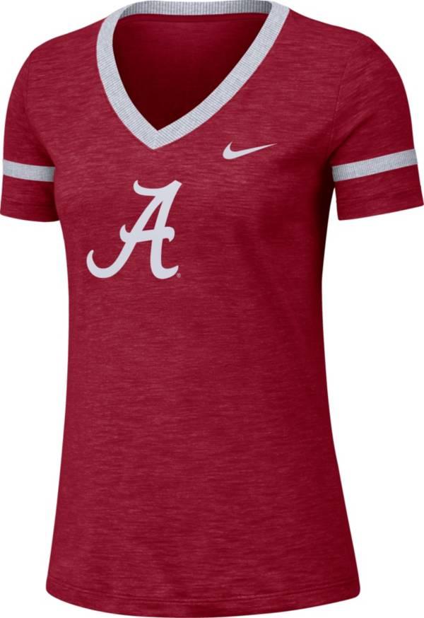 Nike Women's Alabama Crimson Tide Crimson Slub V-Neck T-Shirt product image
