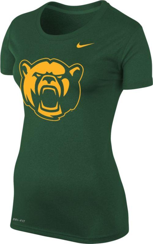 new arrival 732e2 b91bc Nike Women s Baylor Bears Green Logo Dri-FIT Legend T-Shirt