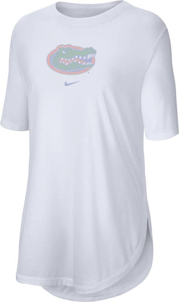 Nike Women's Florida Gators Tri-Blend Weekend White T-Shirt product image
