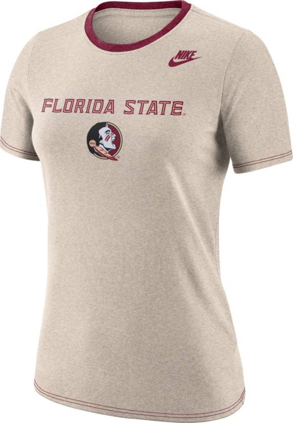 Nike Women's Florida State Seminoles Oatmeal Dry Crew Neck T-Shirt product image