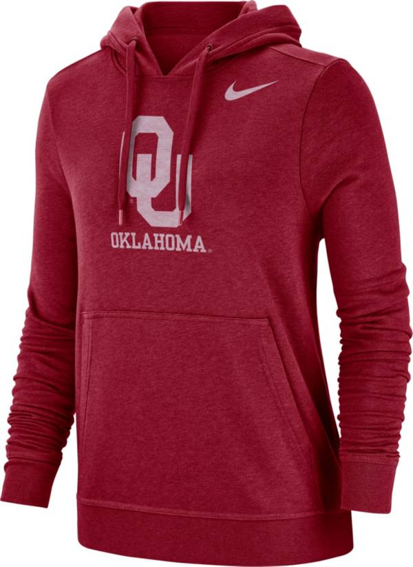 Nike Women's Oklahoma Sooners Crimson Club Fleece Pullover Hoodie product image