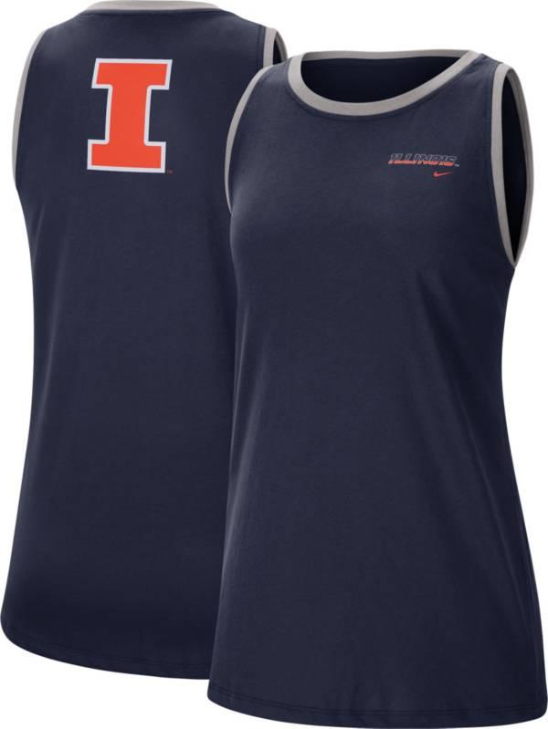 Nike Women's Illinois Fighting Illini Blue Dri-FIT Tomboy Tank Top product image