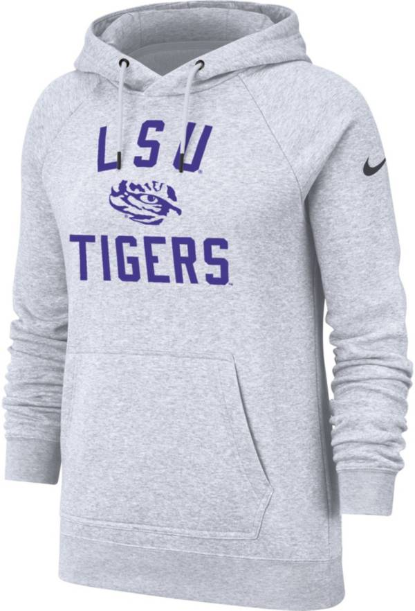 Nike Women's LSU Tigers Rally Pullover White Hoodie product image