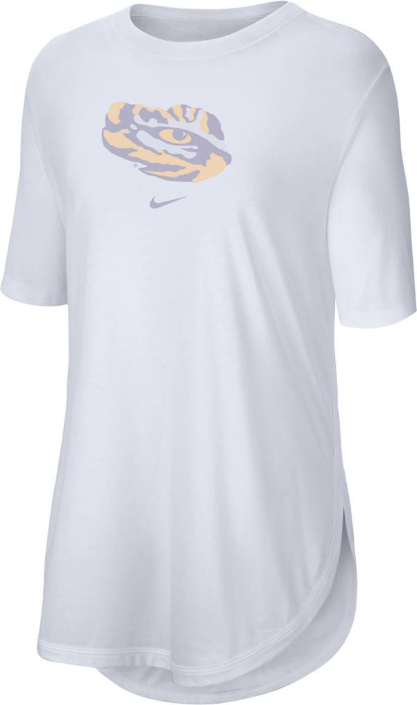 Nike Women's LSU Tigers Tri-Blend Weekend White T-Shirt product image