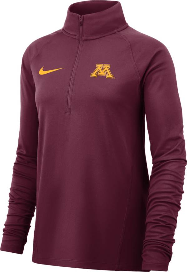 Nike Women's Minnesota Golden Gophers Maroon Half-Zip Shirt product image