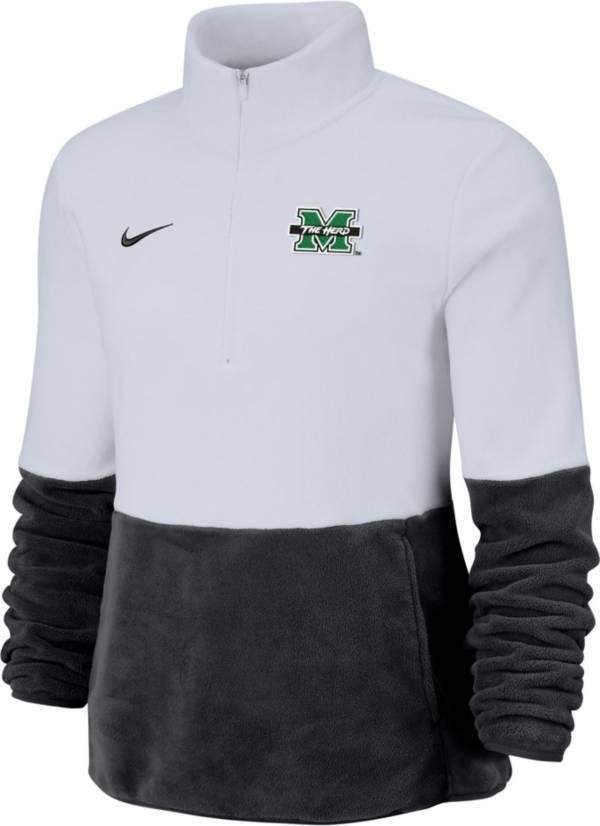 Nike Women's Marshall Thundering Herd Cozy Therma White Half-Zip Fleece product image