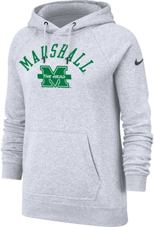Nike Women's Marshall Thundering Herd Grey Rally Pullover Hoodie product image