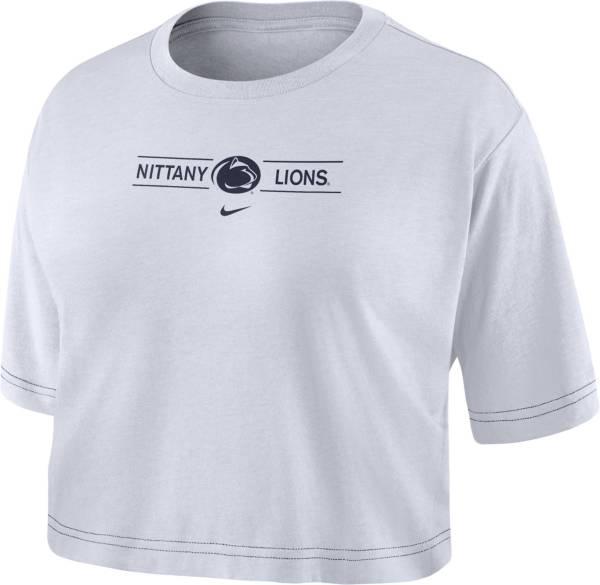 Nike Women's Penn State Nittany Lions Slub Cropped White T-Shirt product image