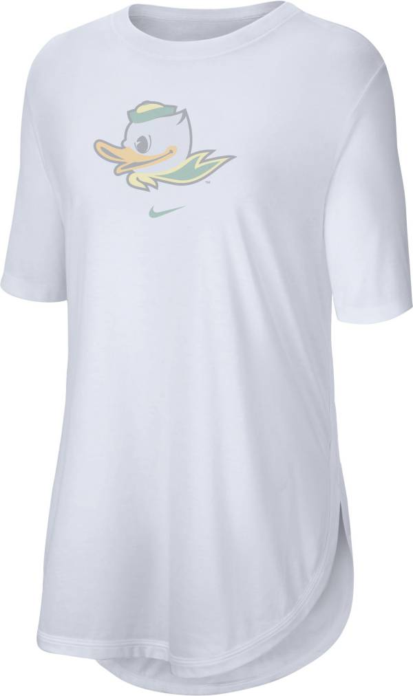 Nike Women's Oregon Ducks Tri-Blend Weekend White T-Shirt product image
