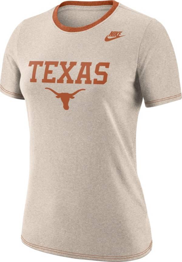 Nike Women's Texas Longhorns Oatmeal Dry Crew Neck T-Shirt product image