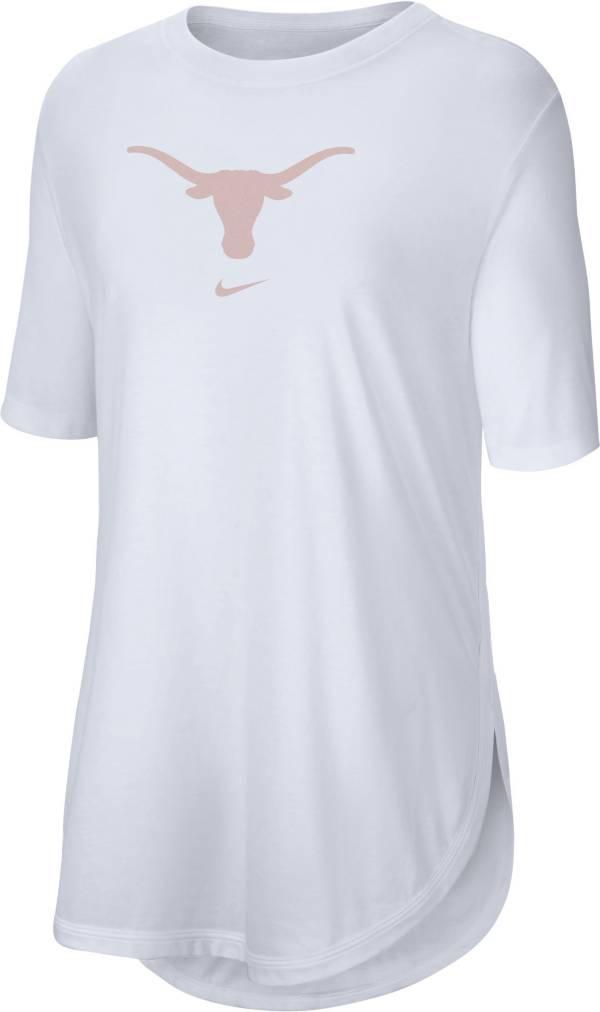 Nike Women's Texas Longhorns Tri-Blend Weekend White T-Shirt product image