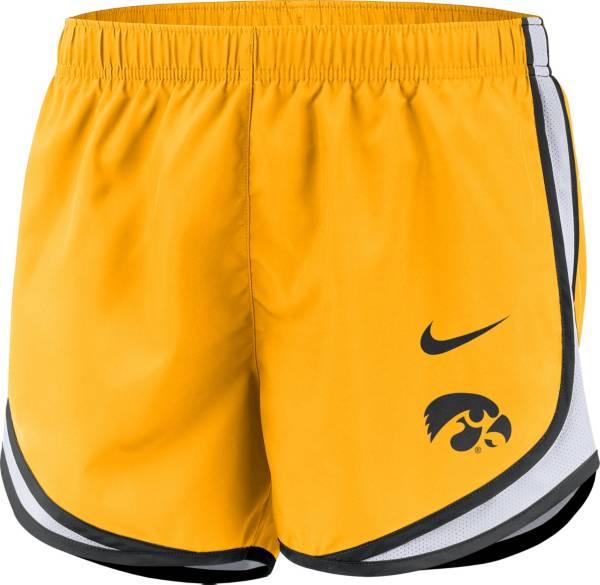 Nike Women's Iowa Hawkeyes Gold Dri-FIT Tempo Shorts product image