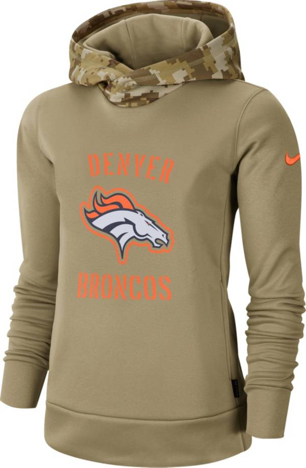 Nike Women's Salute to Service Denver Broncos Therma-FIT Beige Camo Hoodie product image