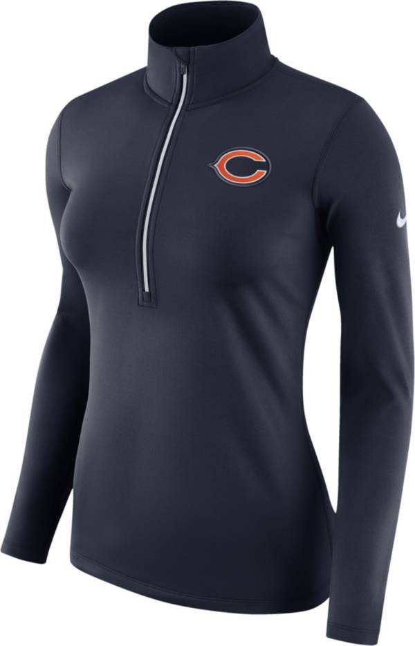 Nike Women's Chicago Bears Pro Warm Half-Zip Navy Performance Pullover product image
