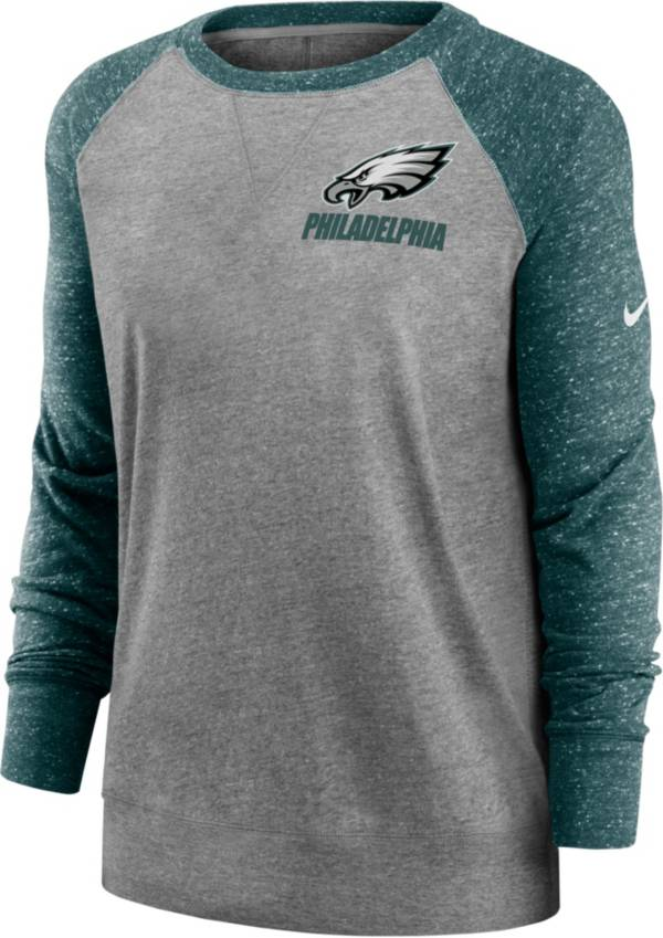 Nike Women's Philadelphia Eagles Gym Vintage Grey Sweatshirt product image