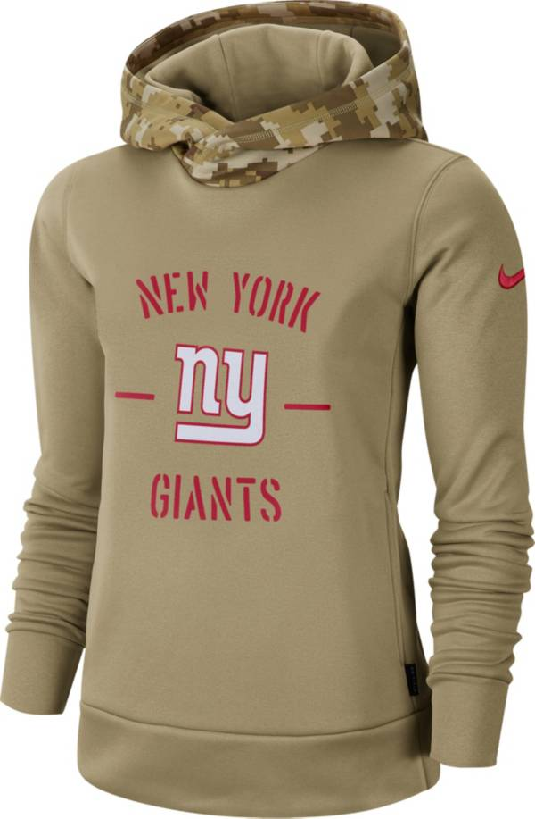 Nike Women's Salute to Service New York Giants Therma-FIT Beige Camo Hoodie product image