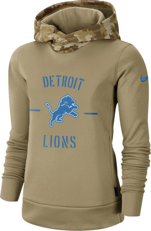 Nike Women's Salute to Service Detroit Lions Therma-FIT Beige Camo Hoodie product image