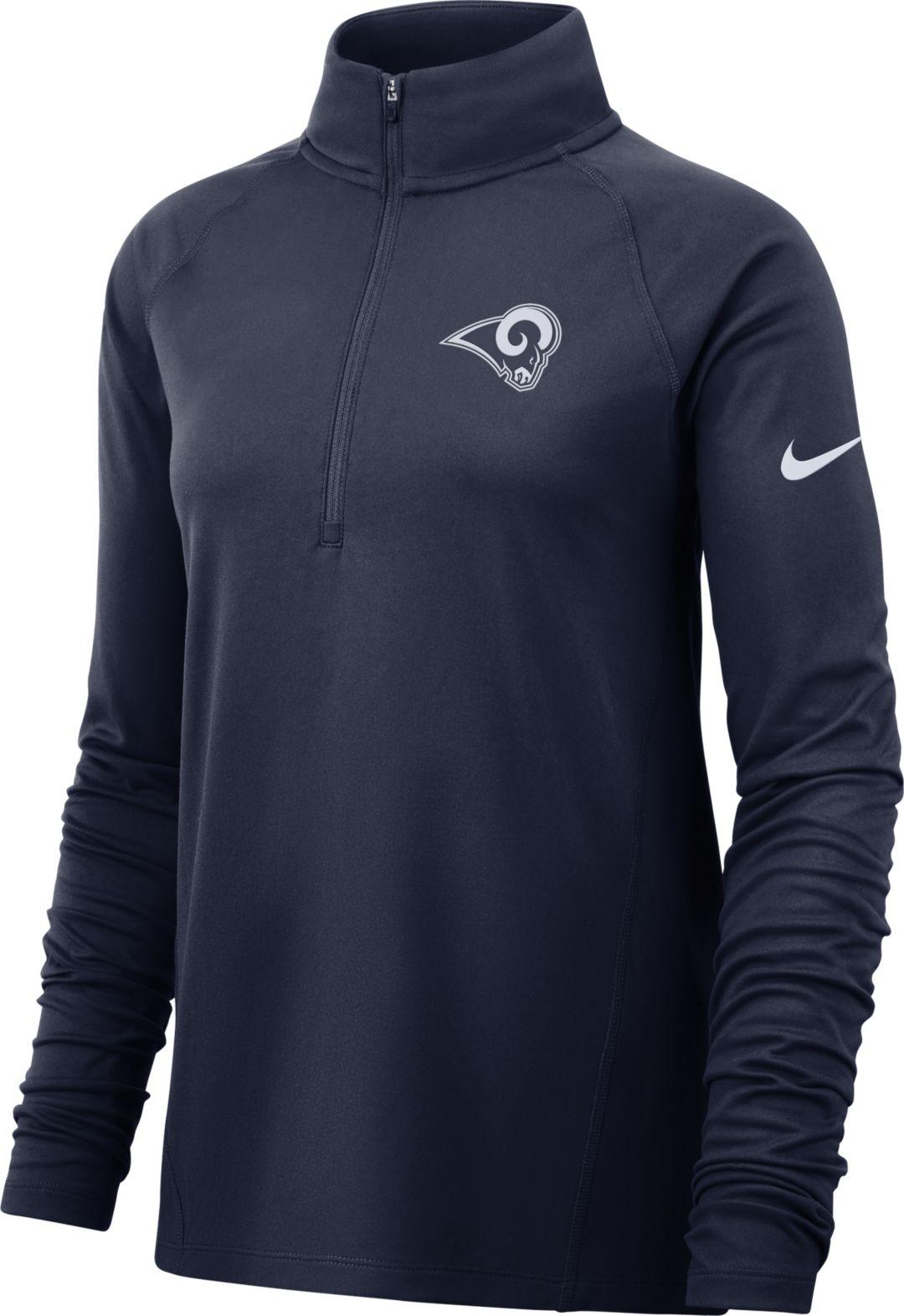 b8a826cd Nike Women's Los Angeles Rams Core Navy Half-Zip Performance Pullover