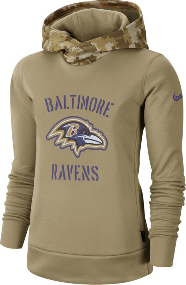 Nike Women's Salute to Service Baltimore Ravens Therma-FIT Beige Camo Hoodie product image