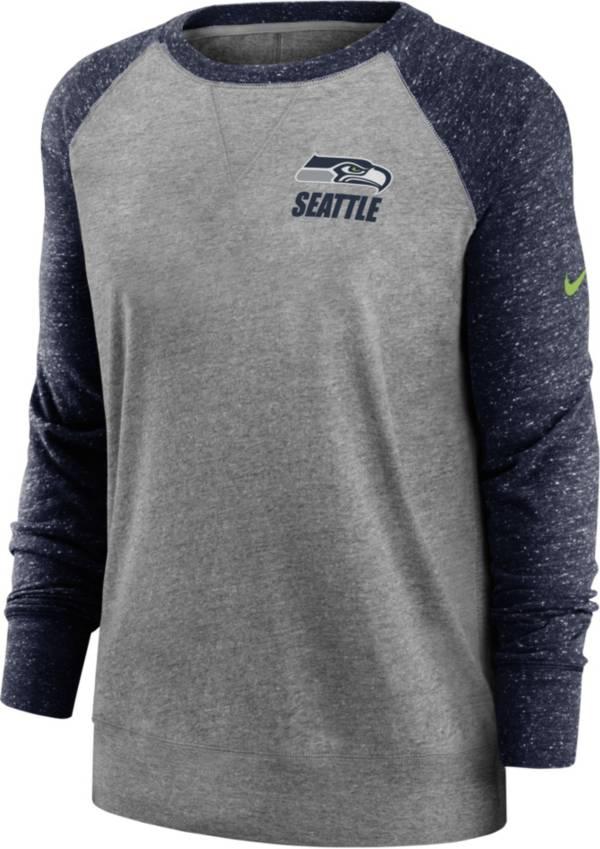 Nike Women's Seattle Seahawks Gym Vintage Grey Sweatshirt product image