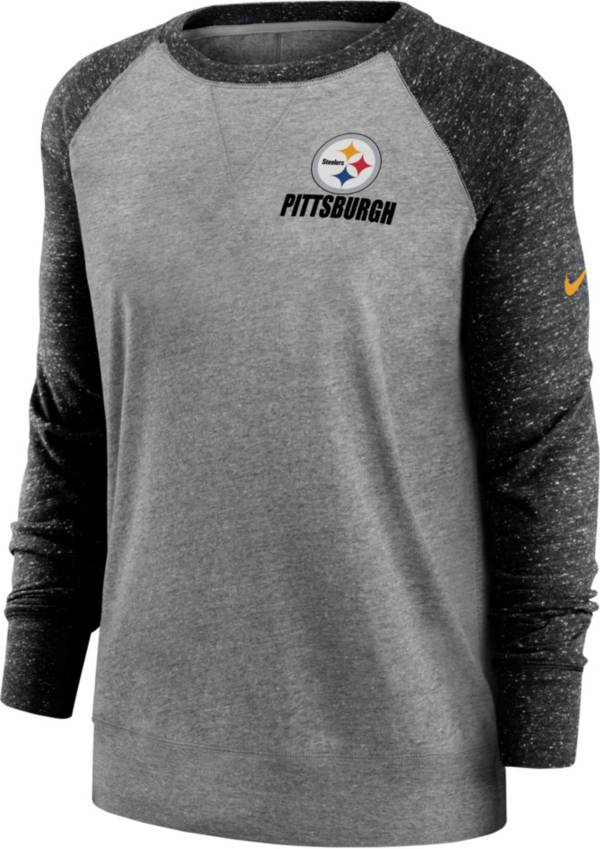 Nike Women's Pittsburgh Steelers Grey Gym Vintage Crew product image