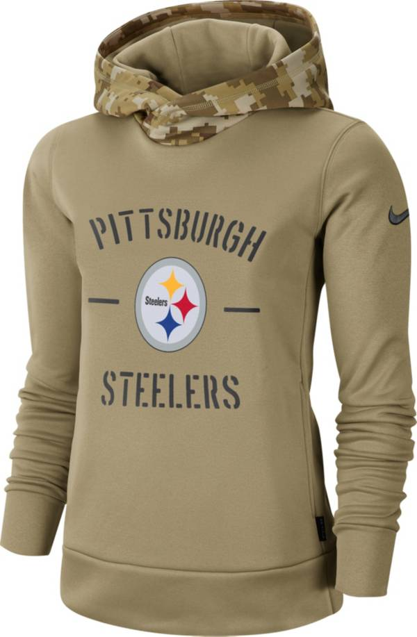 Nike Women's Salute to Service Pittsburgh Steelers Therma-FIT Beige Camo Hoodie product image