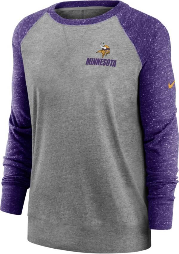Nike Women's Minnesota Vikings Gym Vintage Grey Sweatshirt product image