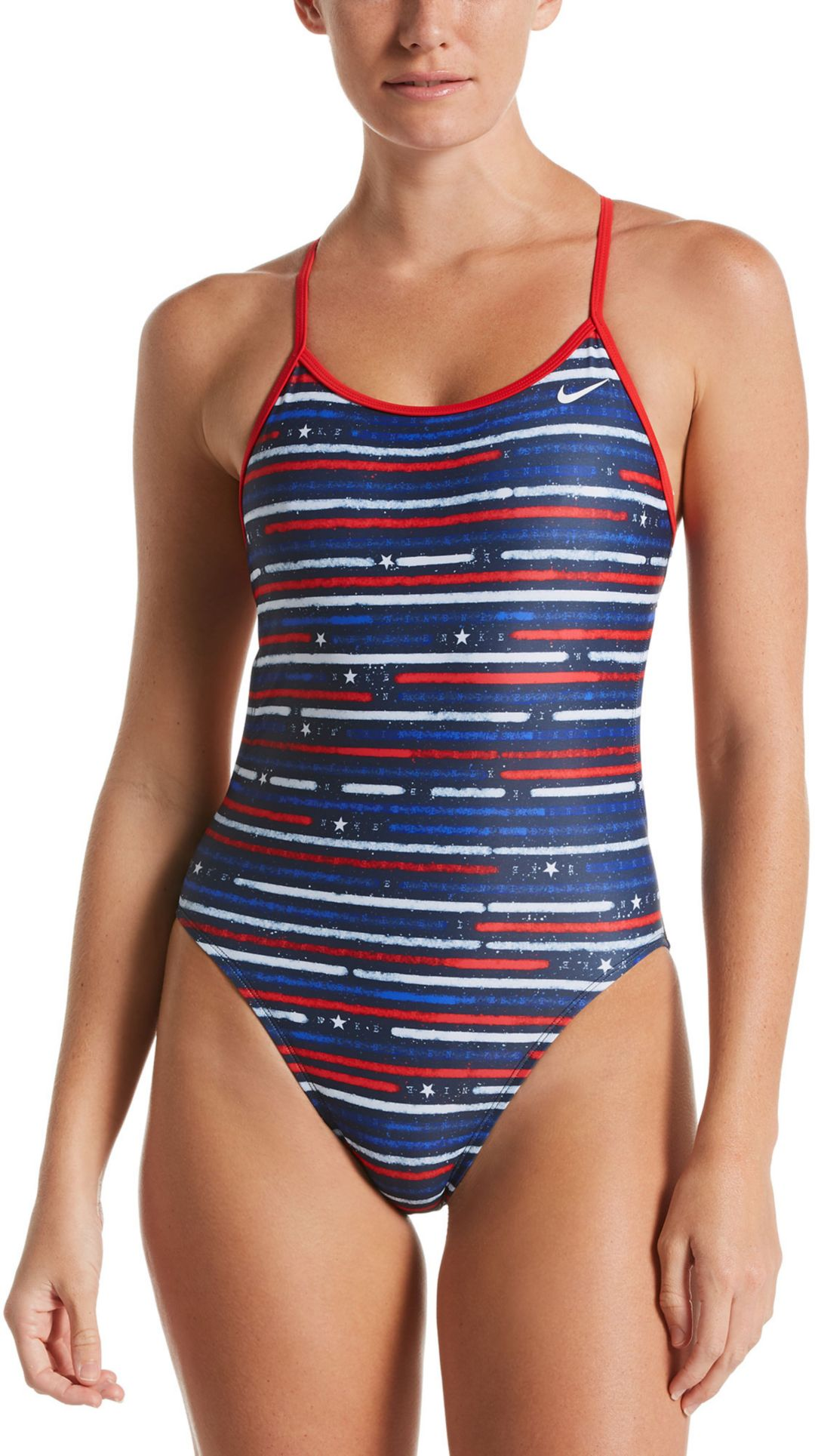 9e1e1edf1d1 Nike Women's Americana Cut-Out Tie Back One Piece Swimsuit. noImageFound.  Previous