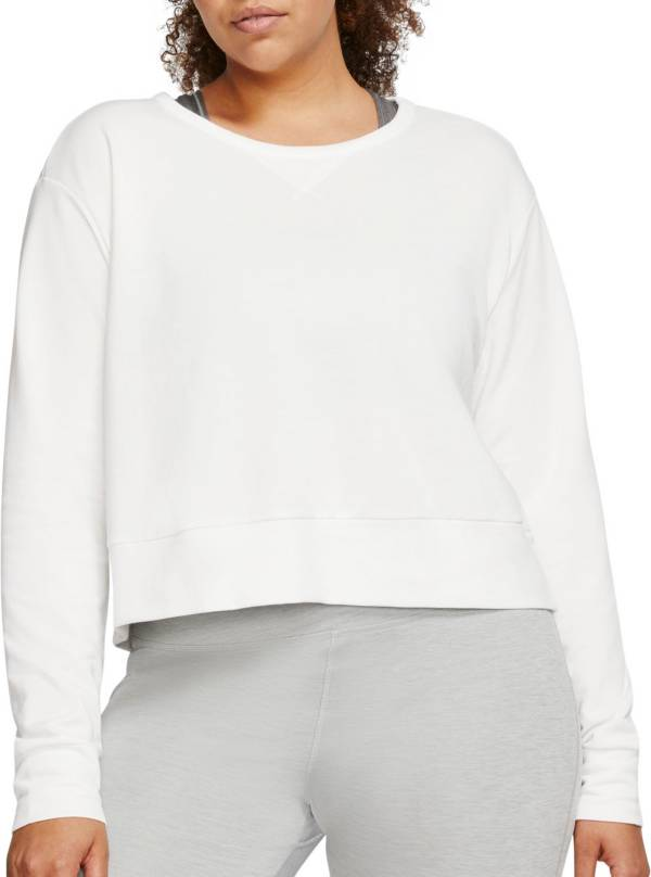 Nike Women's Plus Size Yoga Long Sleeve Open Back Training Top product image