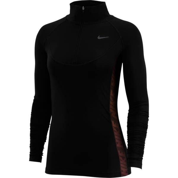 Nike Women's Pro Warm Side Stripe 1/2 Zip Long Sleeve Shirt product image