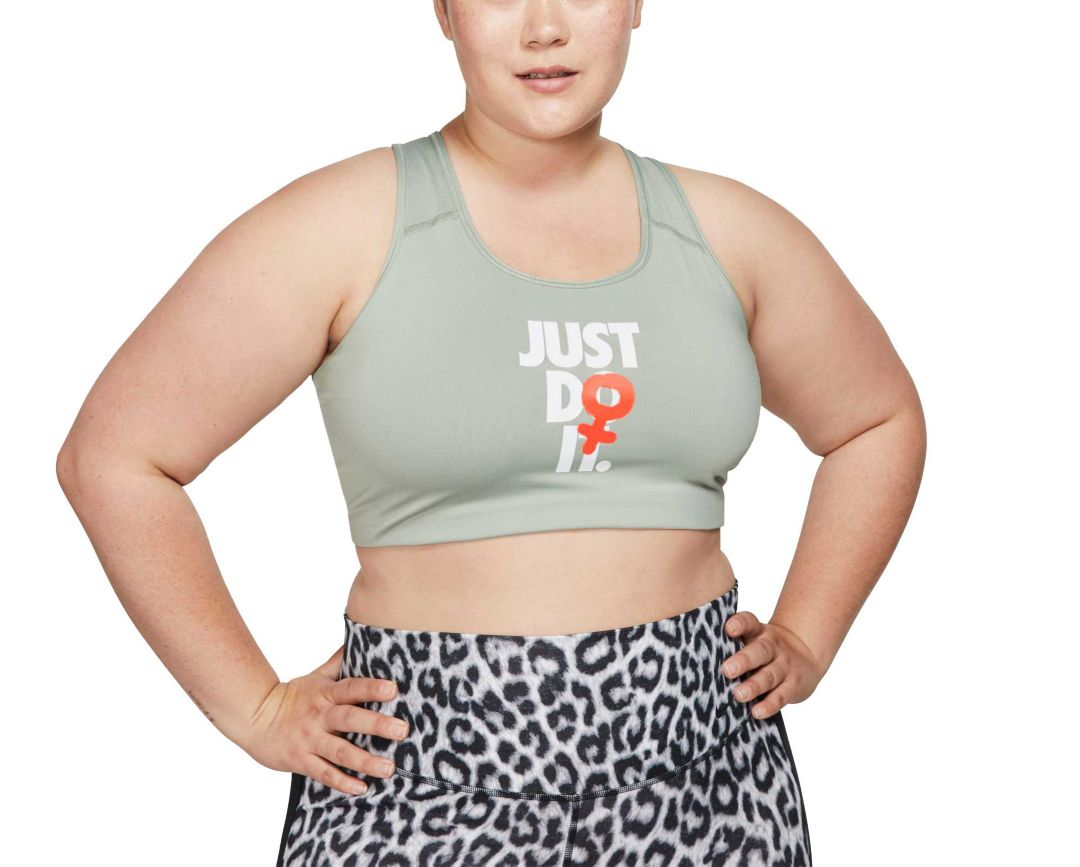 a1dd82c9 Nike Women's Plus Size Rebel Swoosh Medium Support Sports Bra