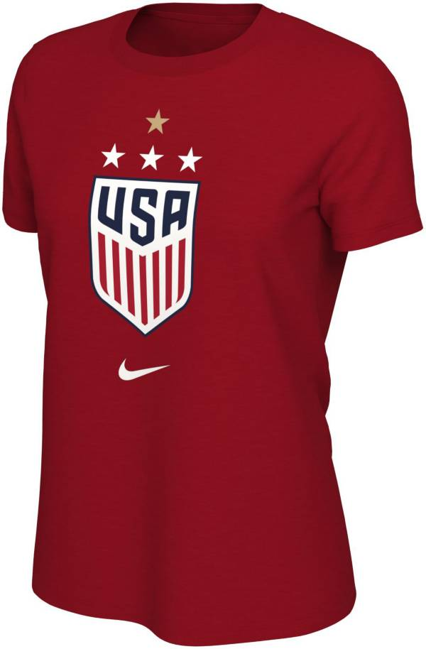 Nike Women's 2019 FIFA Women's World Cup Champions USA Soccer 4-Star Red T-Shirt product image