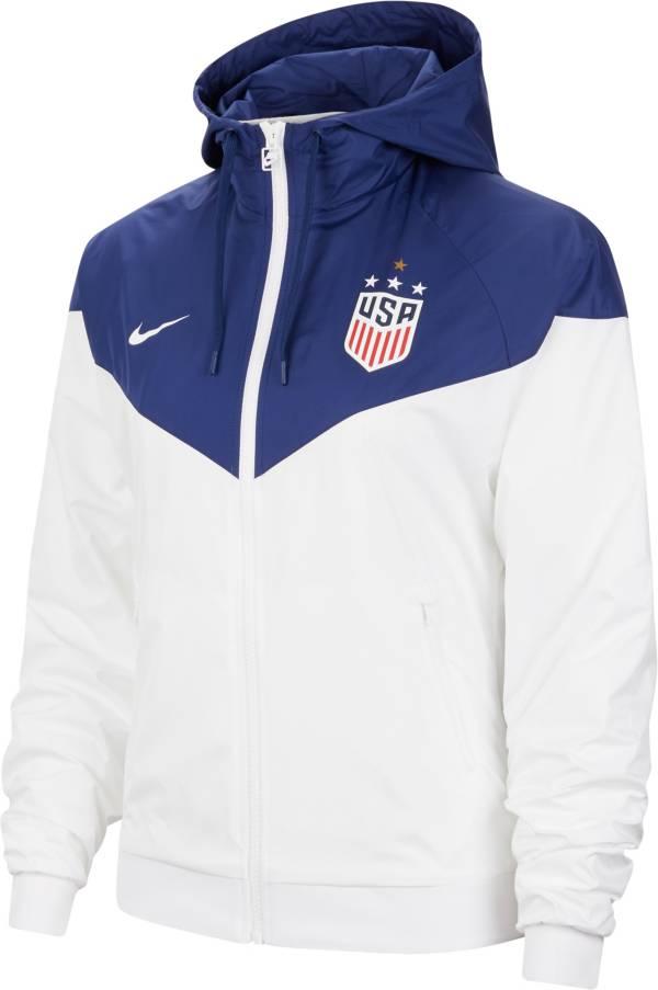 Nike Women's USA Soccer 4-Star White Windbreaker Jacket product image