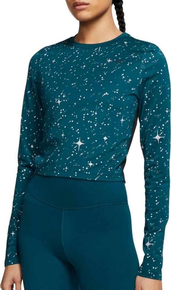 Nike Women's Pro Warm Starry Night Cropped Long Sleeve Shirt product image