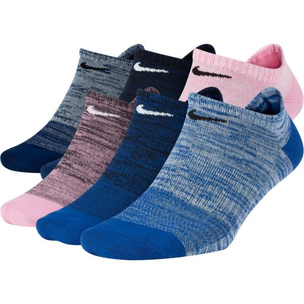 Nike Women's Everyday Lightweight No Show Socks Multicolor 6 Pack product image