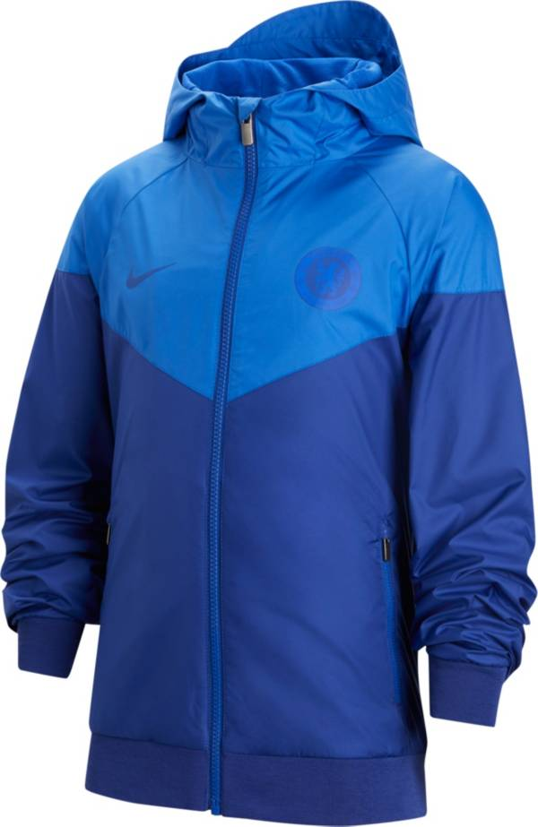 Nike Youth Chelsea FC Windrunner Blue Full-Zip Jacket product image