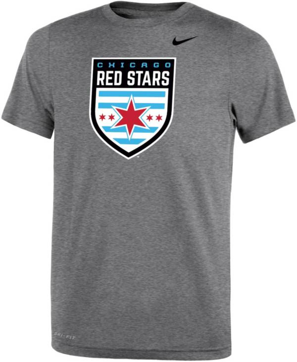 Nike Youth Chicago Red Stars Primary Logo Grey T-Shirt product image