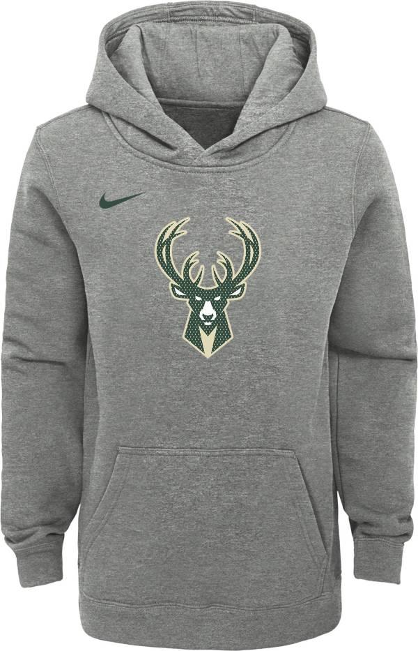 Nike Youth Milwaukee Bucks Grey Statement Hoodie product image