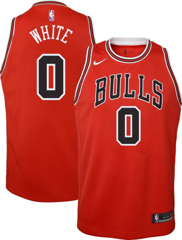 Nike Youth Chicago Bulls Coby White #0 Red Dri-FIT Icon Swingman Jersey product image