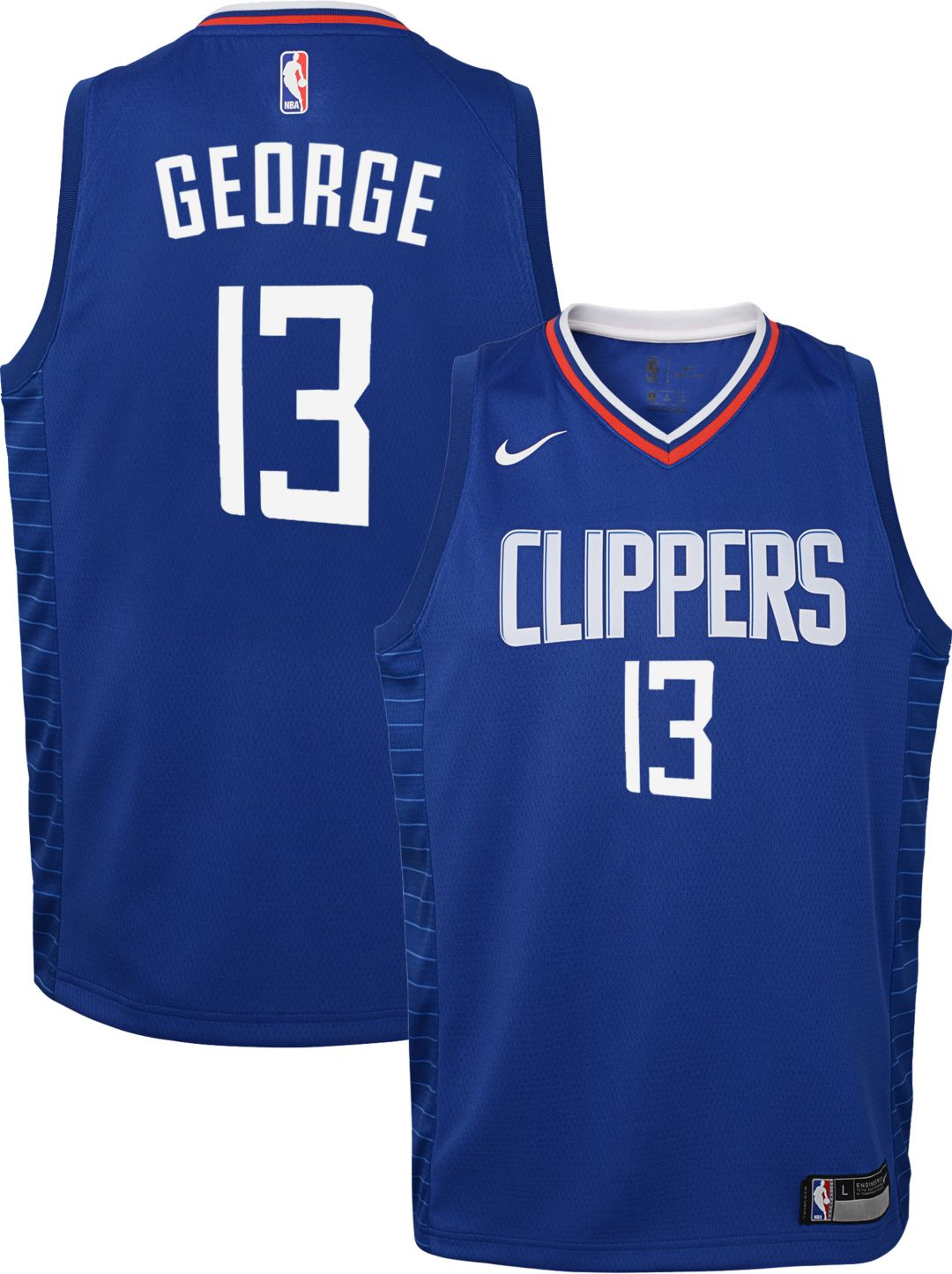 factory authentic 21bca 8dd1f Nike Youth Los Angeles Clippers Paul George #13 Royal Dri-FIT Swingman  Jersey
