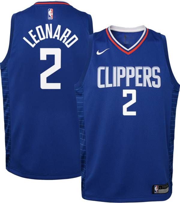 Nike Youth Los Angeles Clippers Kawhi Leonard #2 Royal Dri-FIT Icon Jersey product image