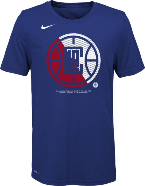 Nike Youth Los Angeles Clippers Dri-FIT Split Logo T-Shirt product image