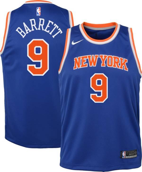 Nike Youth New York Knicks RJ Barrett #9 Royal Dri-FIT Icon Jersey product image